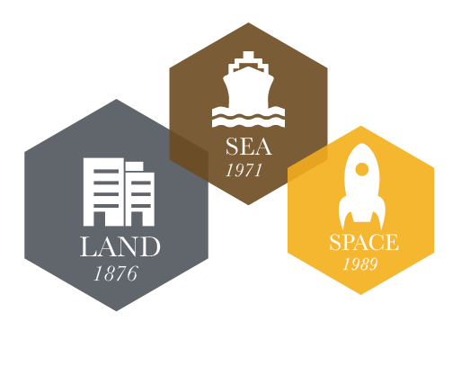Land 1876, Sea 1971, Space 1989 Grants
